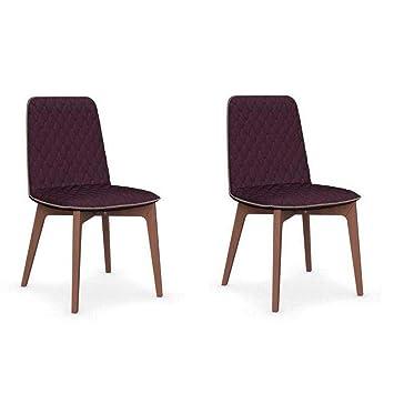 Inside - Juego de 2 sillas Sami Piétement Nogal Asiento ...