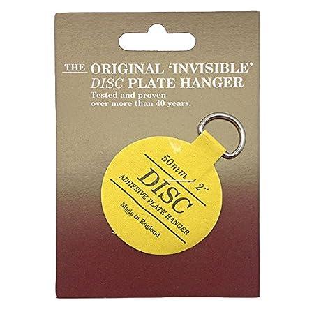 Disc 50mm Adhesive Plate Hanger  sc 1 st  Amazon UK & Disc 50mm Adhesive Plate Hanger: Amazon.co.uk: DIY u0026 Tools