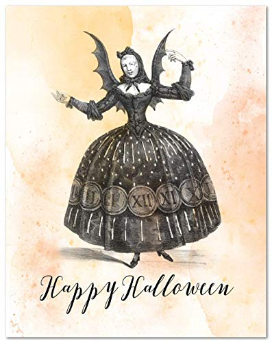 Happy Halloween - 11x14 Unframed Art Print, Gothic Halloween Decor, Great holiday party decoration ()