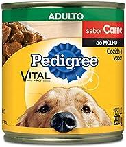 Ração Úmida Para Cachorros Pedigree Lata Carne ao Molho Adultos 290g