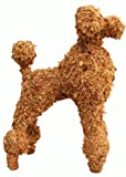 "Poodle Topiary Filled with Sphagnum Moss - 21"" High"