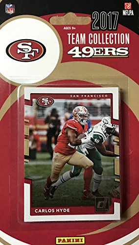 San Francisco 49ers 2017 Donruss Factory Sealed Team Set with Jerry Rice and Rookie Cards of Reuben Foster and Solomon Thomas - Card Football Francisco 49ers San