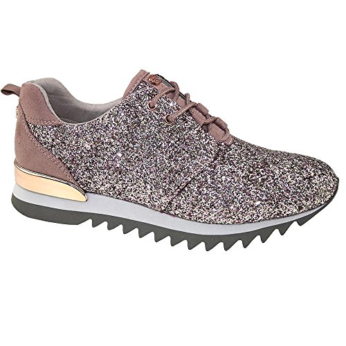 TOM TAILOR 2795803 Damen Sneaker Glitzeroptik rosé-multi Gr.37-42