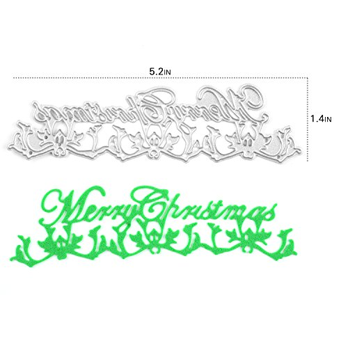 [Enipate Merry Christmas Cutting Dies Carbon Steel Stencil Metal DIY Template] (Seven Dwarfs Costume Ideas)