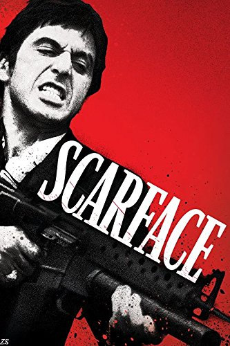 Amazoncom Scarface Al Pacino Tony Montana Quotes Movie Art Canvas