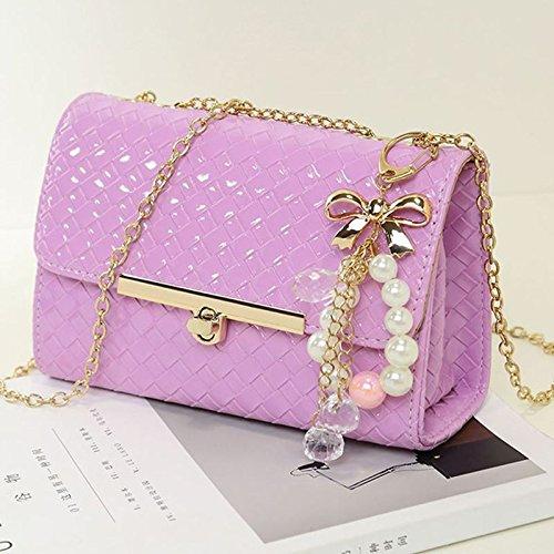KLXEB Pakete Pakete Mit Einem Weiblichen Mini Chain Bag Kleine Party Pack Single Schulter Obliquer Querschnitt - Kleine Verpackung Die Lila Klein 7MY40