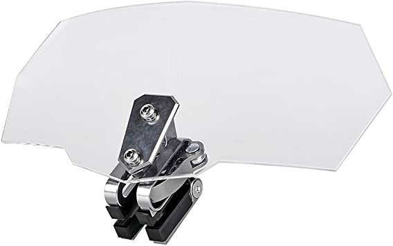 EBTOOLS Modified Motorcycle Windscreen Windshield Wind Deflector,Car decoration accessories Gray
