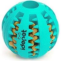 كرة لعبة الكلب من اديبت، كرة لعبة مقاومة للعض غير سامة للحيوانات الأليفة والجراء، كرة تنظيف الأسنان بنكهة المكافأة…