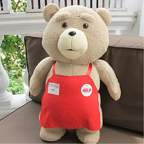 48cm original Movie Teddy Bear Ted 2 Plush Toys In Apron 48CM Soft Stuffed Animals Ted Bear Plush Dolls