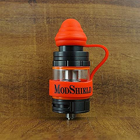 18mm ModShield TipTop ByJojo Silicone Tank Band with Drip Tip Cover Ring Top Covers WHOLESALE OPTION (Red (1 (Mods Drip Tip)