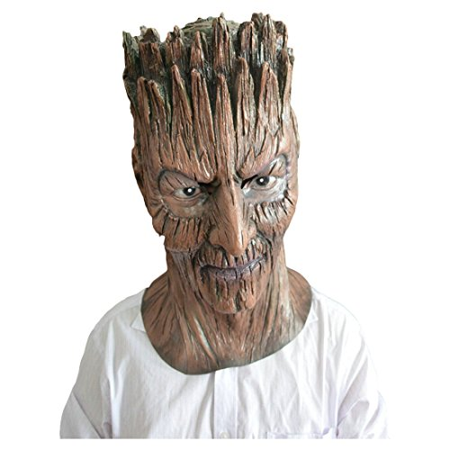 Partiss Latex Creepy Scary Halloween Costume Tree Demon Mask,Onesize,As (Freddy Krueger Costume Pictures)