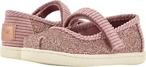 TOMS Kids Baby Girl's Mary Jane (Infant/Toddler/Little Kid) Rose Glow Iridescent Glimmer/Corduroy 4 M US ()