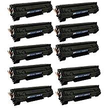HP CE285A New Compatible Black Toner Cartridge use with CANON IMAGECLASS LBP6000, LBP6020, MF3010, HP LASERJET M1132 MFP, P1102W, P1102 HP LASERJET PRO M1210, M1212NF, M1217NFW MFP ( Pack of 10 )