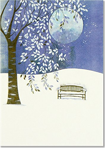 Full Moon in Winter Small Boxed Holiday Cards (Christmas Cards, Greeting Cards)
