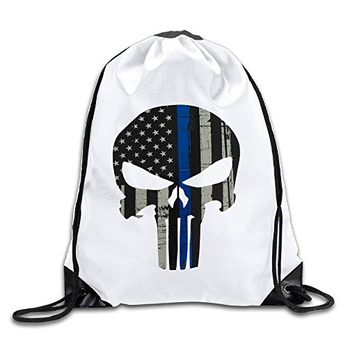 Thin Blue Line Sack Bag Drawstring Backpack Sport Bag by crystars