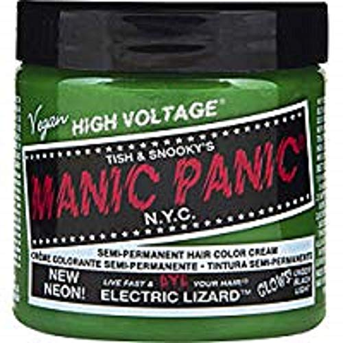 Green Bright Hair Dye - Manic Panic Electric Lizard Neon Green Hair Dye