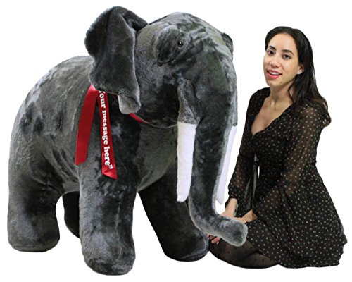 Big Plush Personalized Giant Stuffed Elephant 48 Inch
