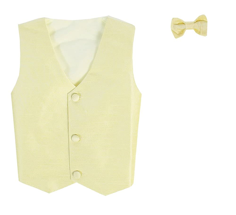 Baby Infant Toddler Boys Tween Sizes Vest And Clip On Bowtie Set Multiple Colors
