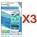 CoverON 3 PACK CLEAR ANTI-GLARE LCD Screen Protector Shield for LG US780 OPTIMUS F7 [WCG726]