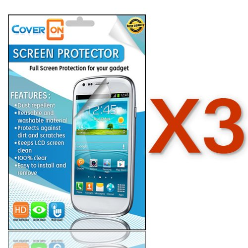 CoverON® 3 PACK CLEAR ANTI-GLARE LCD Screen Protector Shield for LG L40G OPTIMUS EXTREME [WCC740]