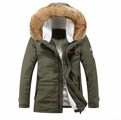 2 Cappotti Invernali Allineate Giacche Maschile Casuale Finta Pelliccia Ttyllmao Incappucciati Caldi 6vwxO8Fv