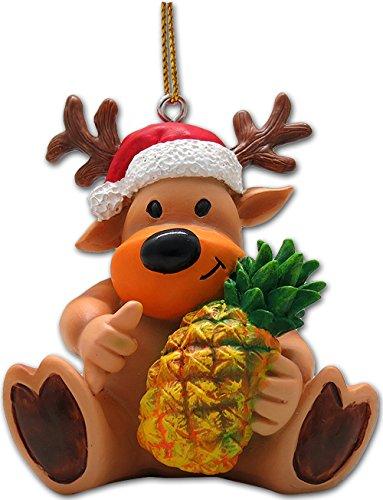 - Reindeer & Pineapple Ornament 2.25