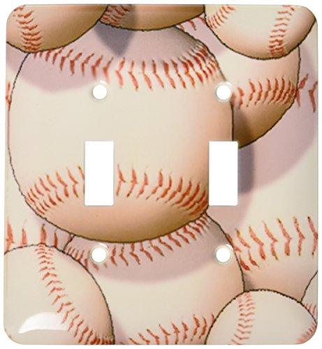 3dRose lsp_63046_2 Baseball Pattern Double Toggle Switch