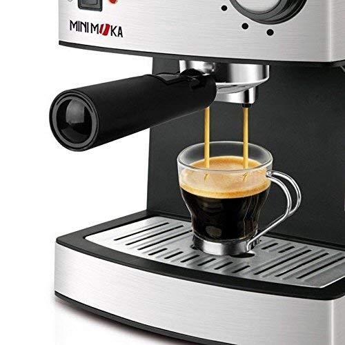 850 W 0 Decibeles 1,6 L 6.7628 Cups Mini Moka CM-1821 999.319 Cafetera Espreso 15 Bar Acero Inoxidable