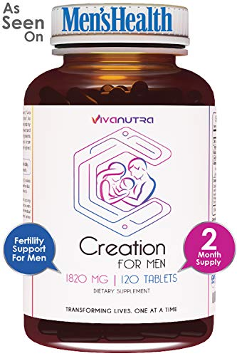 Male Fertility Supplement - Support Mens Sperm Count, Healthy Volume, and Motility - All Natural Sperm Booster, Volumizer - Herbal Vitamin Blend - Aid Infertility, and Conception for him by VivaNutra