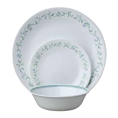 Corelle Livingware 18-Piece Dinnerware Set, Country Cottage, Service for 6