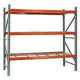 Sandusky Lee PR1204296-3 Pallet Rack Starter Kit-3 Level, 120'' x 42'' x 96'', Green/Orange