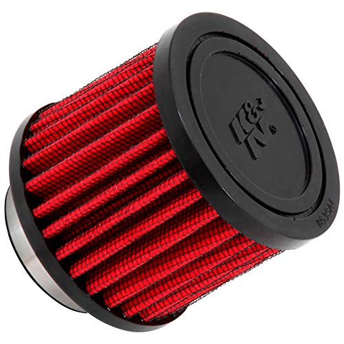K&N 62-1460 Vent Air Filter / Breather: Vent Air Filter/ Breather; 1.5 in (38 mm) Flange ID; 2.5 in (64 mm) Height; 3 in (76 mm) Base; 3 in (76 mm) Top