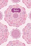 Notes: 120 Blank Lined Page Softcover Notes Journal, College Ruled Composition Notebook, 6x9 Blank Line Watercolor Pink Mandala Yoga Design Cover Note Book