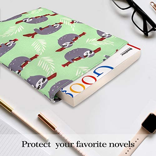 Book Cover for Hardcover and Paperback Dabbing Sloth Book Sleeve Notebooks and Pens Not Included Book Lover Gift