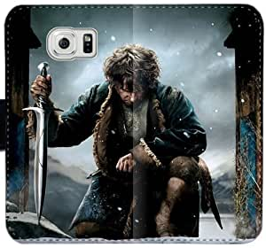 Hobbit S1M0V Funda Samsung Galaxy S6 Edge Plus caja de cuero Funda Flip Case N3V630 Genérico de teléfono Fundas Moda