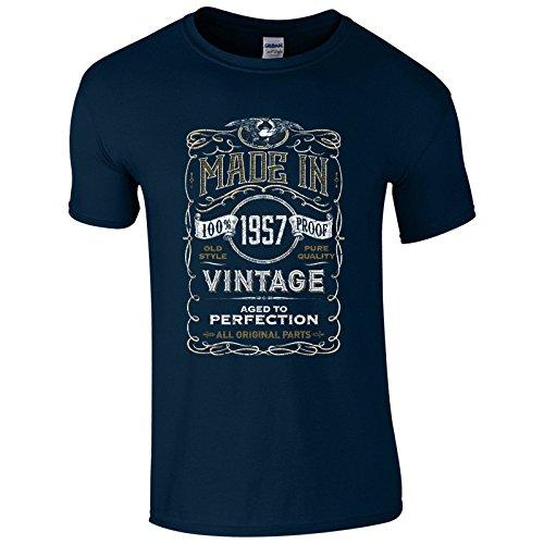UKPrintwear Herren T-Shirt Gr. M, marineblau