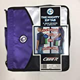 Case it The Mighty Zip Tab 3-Ring 3 inch Capacity Binder (OD-56-BB) D Ring (Backpack or Shoulder Strap) (Purple)