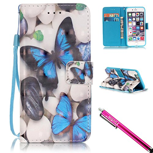 iPhone 6S Plus Case, Firefish [Kickstand] [Shock Proof] Double Protective Case Flip Folio Slim Magnetic Cover with Wrist Strap for Apple iPhone 6 Plus / 6S Plus