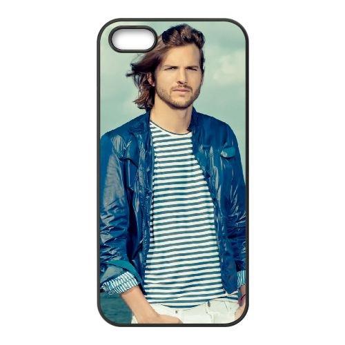Ashton Kutcher 004 coque iPhone 5 5S cellulaire cas coque de téléphone cas téléphone cellulaire noir couvercle EOKXLLNCD21753
