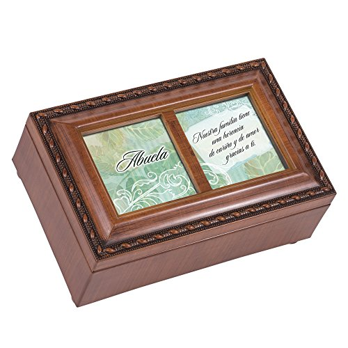 Cottage Garden Abuela Woodgrain Petite Music Box / Jewelry Box Plays Light Up My Life (Music Petite Grain Wood Box)