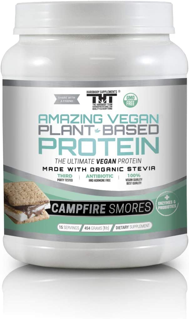 Amazing Vegan Plant Based Protein Powder Made with Probiotic s, Digestive Enzymes Organic Stevia. Vegetarian Protein Shakes for Optimal Health