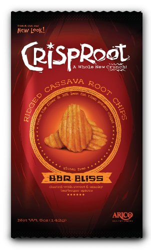 CrispRoot Cassava Chips, BBQ Bliss, 5-Ounce Bags (Pack of 12)