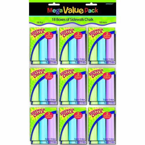 Amscan Sidewalk Chalk Party Supplies | Party Favor | Pack of 18