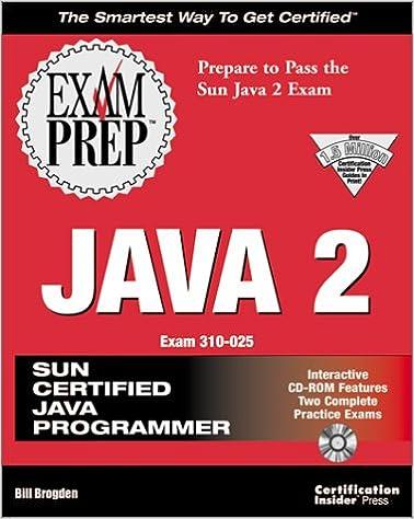 Java 2 Exam Prep (Exam: 310-025): Bill Brogden: 9781576102619 ...