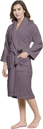 Trident Finesse 100% bomullsjal krage badrock, morgonrock, perfekt för dusch, spa, hotellrock, semester