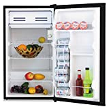 Appliances : 3.3 Cu. Ft. Refrigerator with Chiller Compartment, Black, Sold as 1 Each