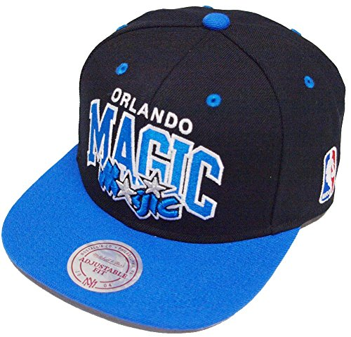 Orlando Magic Cap - Mitchell & Ness NBA Orlando Magic Team Arch Snapback Cap NA80Z Kappe Basecap
