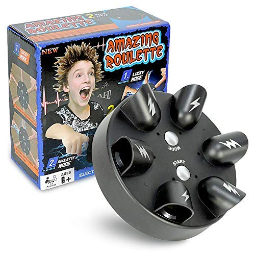 Amazing Roulette Electric Shocking Game - Up to 6 Players 2 Game Modes Finger Shock Party Game