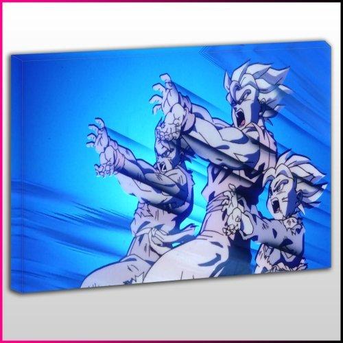 A066 DBZ Goku Gohan Goten Kamehameha Framed Ready To Hang Canvas Print, Anime, Pop Street Wall Art, Picture by - Pictures Kamehameha