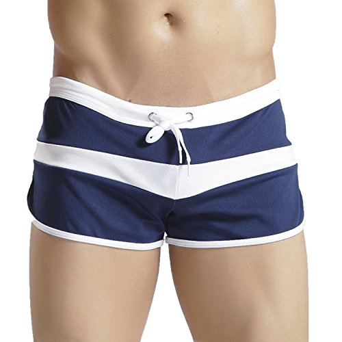 Hawiton Men's Swimming Trunks Summer Surfing Briefs Swimwear with Drawcord Boxer Shorts ()